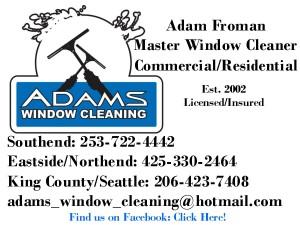 Adams Window Cleaning Logo