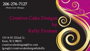 Creative Cakes by Kelly Business Card